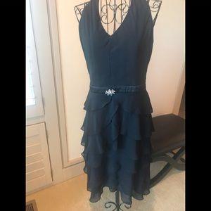 Patra halter tiered dress